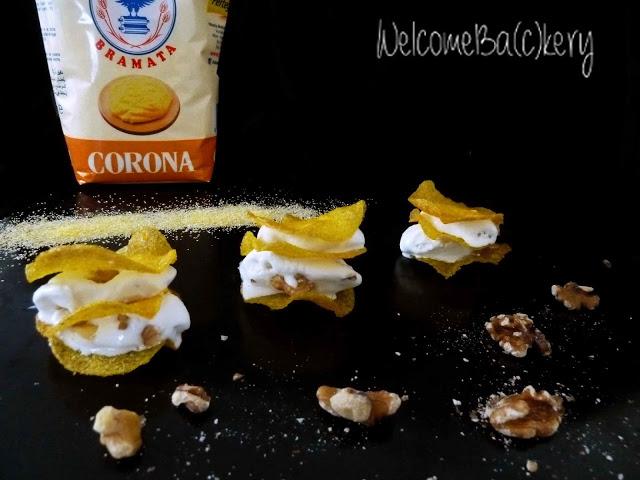 Millefoglie di polenta con gelato di Zola per il contest Perteghella