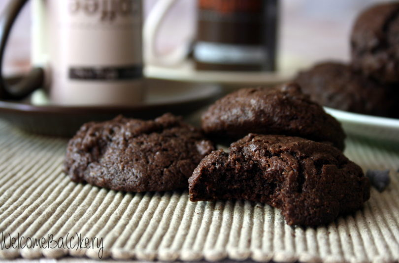 Buckwheat triple chocolate cookies