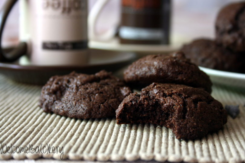 Buckwheat triple chocolate cookies