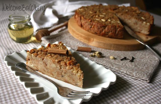 Torta di pane e miele, speziata (senza zucchero)