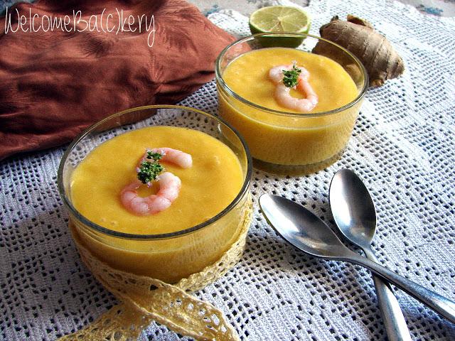 Vellutata al mango e latte di cocco