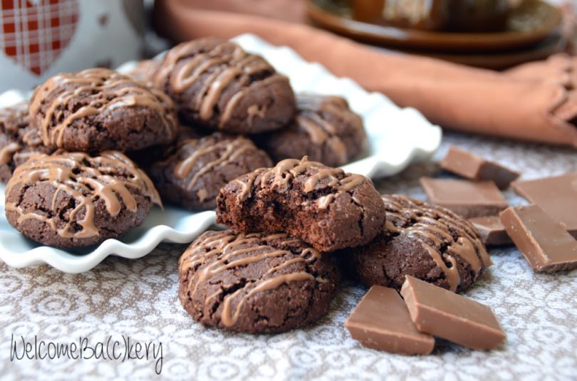 Soft cocoa cookies, no eggs and no butter