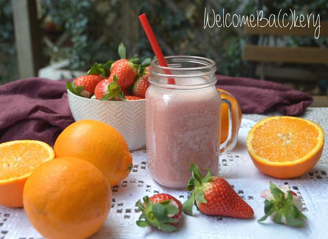 Frullato fragole e arancia