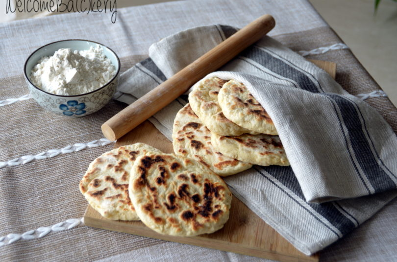 Quick little flat-breads with Philadelphia