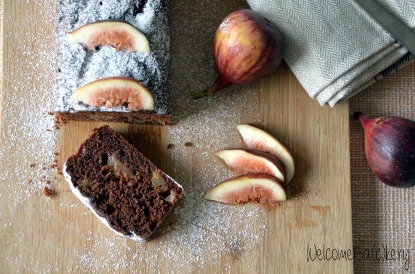 Plumcake ai fichi, cacao e cannella