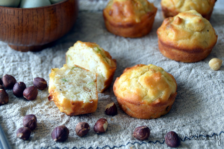 Muffins porri e nocciole