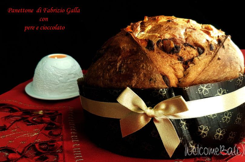 Panettone di Fabrizio Galla con cioccolato e pere