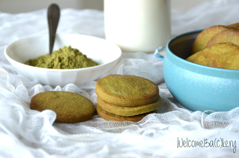 Matcha tea biscuits