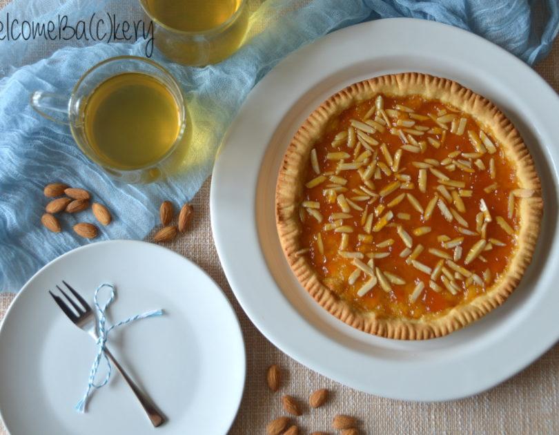 Jam tart, with quick oil shortcrust pastry