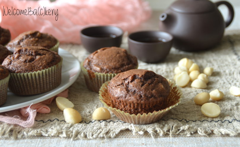 Cocoa muffins with Macadamia nuts