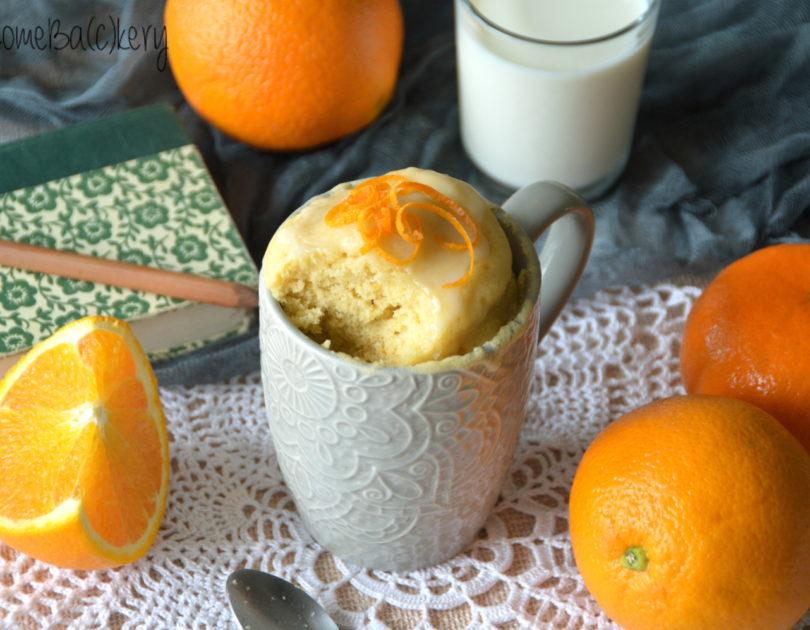 Mug cake all'arancia