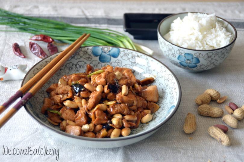 Pollo Gong Bao (o Kung Po), con arachidi