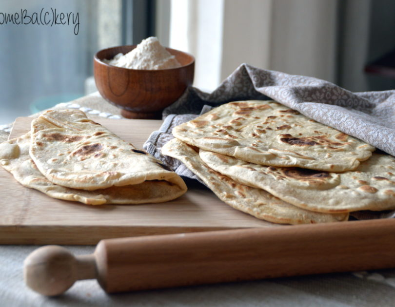 Layered piadine (tipycal flatbread)