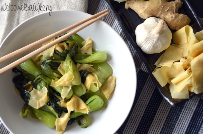 Bok choy with tofu skin