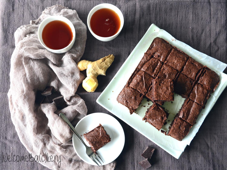 Brownies al cioccolato e zenzero