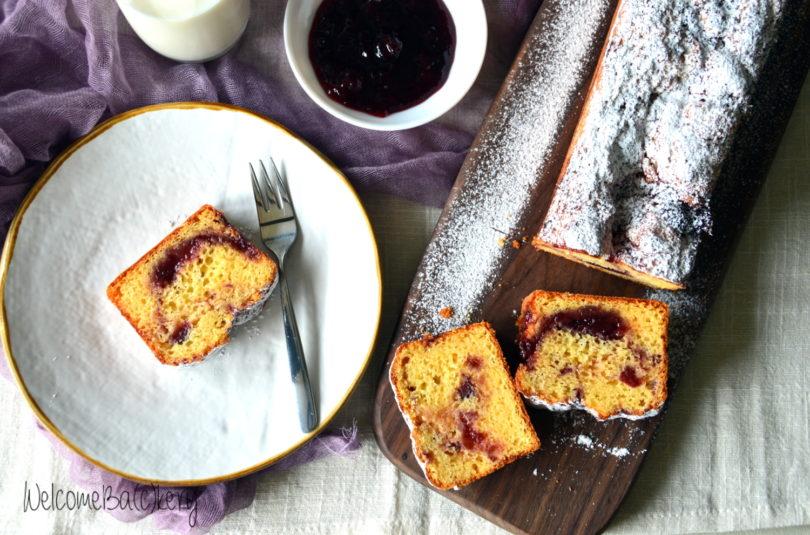 Cake variegato alla confettura