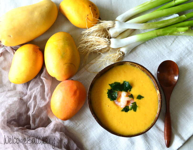 Mango and coconut soup, no cooking